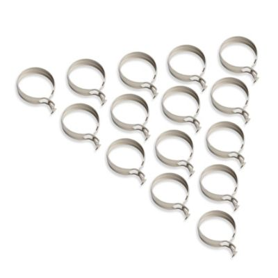 Springs Window Fashions Nickel Finish Cafe Clip Rings (Set of 7)