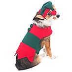 Santa's Helper Dog Costume in Red/Green