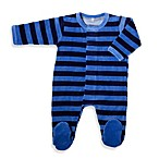 Magnificent Baby Velour Footie in Sky Blue