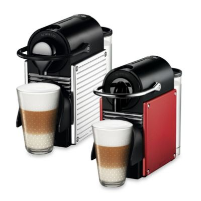 Nespresso® Pixie A D60-US-DR-NE Espresso Machine and Aeroccino Bundle in Dark Red