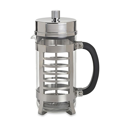 buy bonjour coffee and tea linear 8 cup french press in stainless steel from bed bath beyond. Black Bedroom Furniture Sets. Home Design Ideas