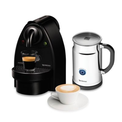 Nespresso Coffee Maker Manual : Nespresso Essenza Manual Espresso Machine and Aeroccino Bundle in Black - Bed Bath & Beyond