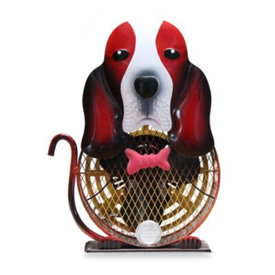 Himalayan Breeze Decorative Basset Hound Fan in Medium
