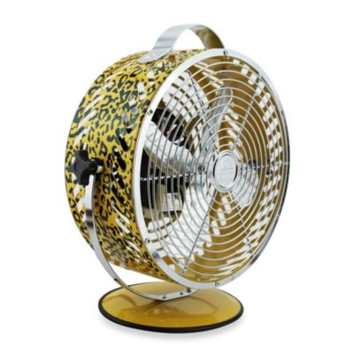 Himalayan Breeze Decorative Leopard Print Fan