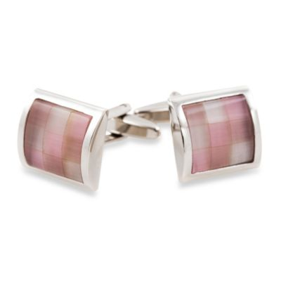 Cuff-Daddy Pink Glass Mosaic Cufflinks