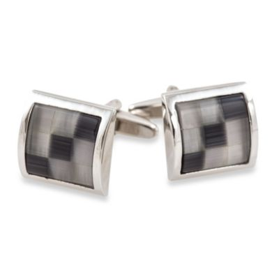 Cuff-Daddy Grey Glass Mosaic Cufflinks