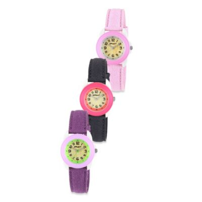 Sprout™ Women's Resin and Organic Cotton Strap Watch