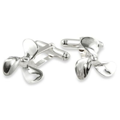 Cuff-Daddy Sterling Silver Propeller Cufflinks