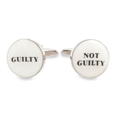 Cuff-Daddy Guilty / Not Guilty Cufflinks