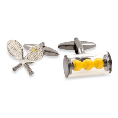 Cuff-Daddy Tennis Racquet and Balls Cufflinks