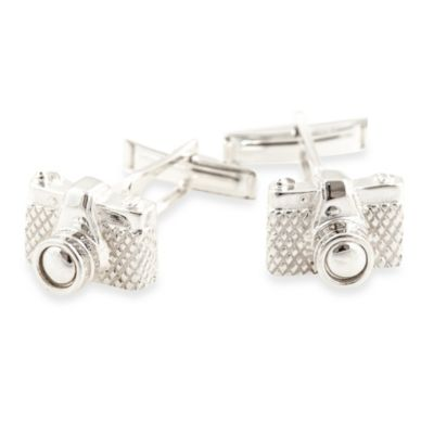 Cuff-Daddy Sterling Silver Camera Cufflinks
