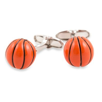 3-D Basketball Cufflinks