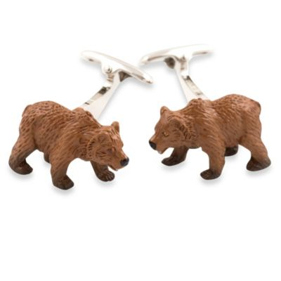 Cuff-Daddy Grizzly Bear Cufflinks