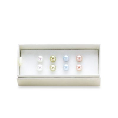 Honora Set of 4 Pearl Earrings