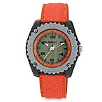 Sprout Sporty Eco-Friendly Watch with Orange Strap