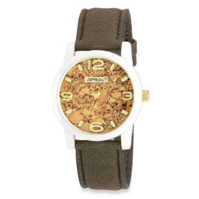 Sprout Men's Watch with Organic Cotton Strap