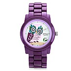Sprout™ Women's Purple Owl Icon Watch