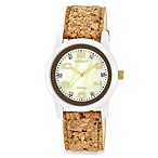 Sprout™ Women's Mother-of-Pearl and Cork Strap Watch