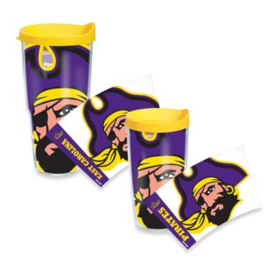 Tervis® East Carolina University Pirates 16 oz. Wrap Tumbler with Yellow Lid