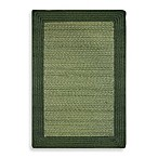 Olive Border Braid Tweed Rug