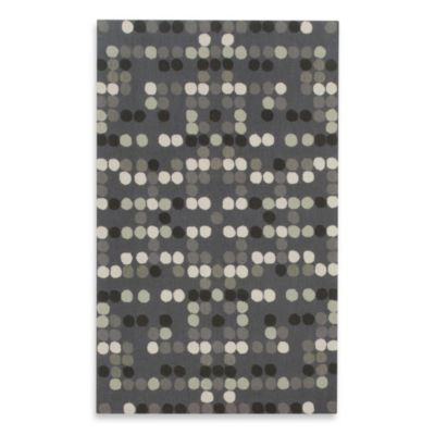 Kevin O'Brien for Capel Rugs Carbon Dot Rug in Charcoal