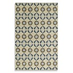 Kevin O'Brien for Capel Rugs Daisy Climber Petals Rug in Blue
