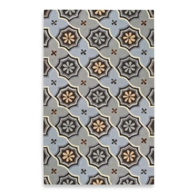 Kevin O'Brien for Capel Rugs Mesmerize 3-Foot x 5-Foot Medallion Rug in Sky