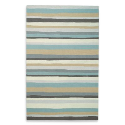 Kevin O'Brien for Capel Rugs Mesmerize Striped 3-Foot x 5-Foot Rug in Aloe
