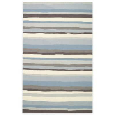 Kevin O'Brien for Capel Rugs Mesmerize 8-Foot x 11-Foot Striped Rug in Sky