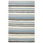 Kevin O'Brien for Capel Rugs Mesmerize 3-Foot x 5-Foot Striped Rug in Sky