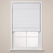 Real Simple 174 Roman Shade In White Bed Bath Amp Beyond