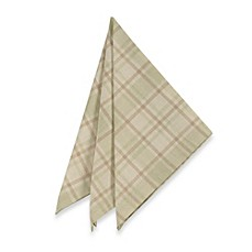Tuscan Plaid Laminated Fabric Napkins (Set of 4)