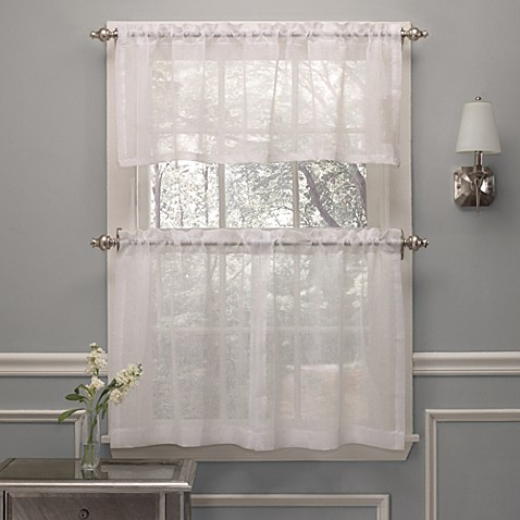 Crushed Voile Window Curtain Tier Pairs