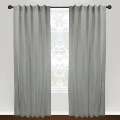 Park B. Smith Vintage House Thai Sheer Back Tab 84-Inch Window Curtain Panel in Silver