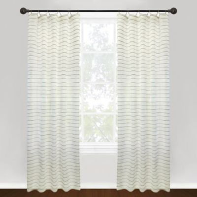 Park B. Smith Vintage House Jordan Serpentine Tab Top 84-Inch Window Curtain Panel in Linen