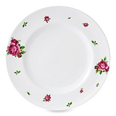 Royal Albert New Country Roses White Vintage Formal 10.6-Inch Dinner Plate