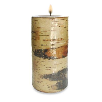 Birch 3-Inch x 6-Inch Pillar Candle