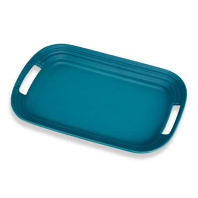 Le Creuset Caribbean Large Serving Platter in Turquoise