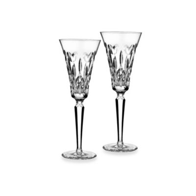 Waterford® I Love Lismore Toasting Flutes (Set of 2)