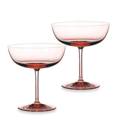 Waterford® Monique Lhuillier Champagne Blush Coupes Glass (Set of 2)
