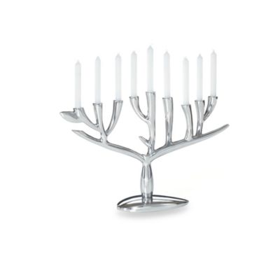 Nambé Judaica Tree of Life Menorah