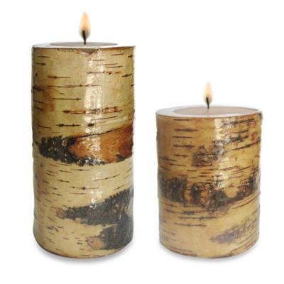 Birch 3-Inch x 4-Inch Pillar Candle