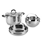 Gourmet Solutions 4-Piece Stainless Steel Easy Strain Pot