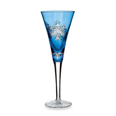 Waterford® Crystal Snowflake Wishes 2013 3rd Edition Goodwill Kerry Prestige Light Blue Flute