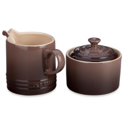 Le Creuset® 8-Ounce Cream & Sugar Set in Truffle