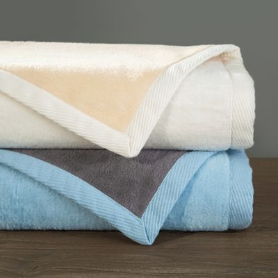 Downtown Company Reversible Throw in Grey/ Blue