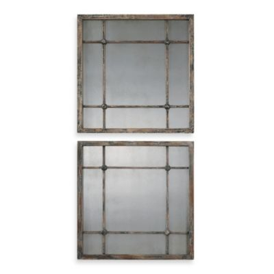 Uttermost Saragano Square Mirrors (Set of 2)