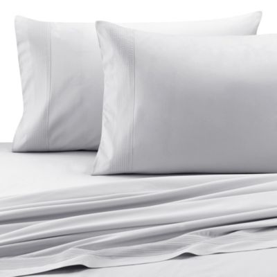 Barbara Barry Dream Pintuck Sateen Queen Flat Sheet in Fountain