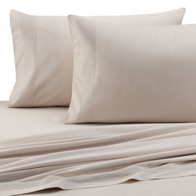 Barbara Barry® Perfect Pleat California King Fitted Sheet in Silver Birch