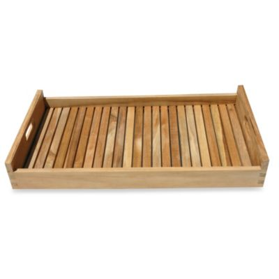 Teak Serving Tray with Handles